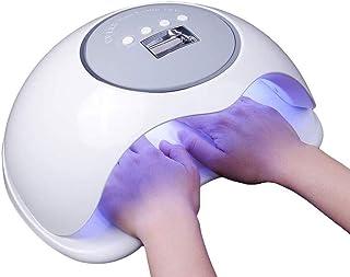 LKNJLL Professional Nail Dryer 72W - Sun Best UV LED Nail Lamp for Fingernail & Toenail Gel Based Polishes – Portable Nail Curing Light with 36pcs LED,4 Timer Settings & Smart Sensor (White)