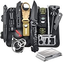 Gifts for Men Dad Husband, Survival Gear and Equipment 12 in 1, Christmas Stocking Stuffers, Fishing Hunting Birthday Gifts Ideas for Him Boyfriend Teen Boy, Cool Gadget, Camping Survival Kit