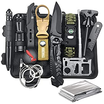 Gifts for Men Dad Husband Survival Gear and Equipment 12 in 1 Survival Kit Fishing Hunting Christmas Birthday Gift Ideas for Him Teen Boy Boyfriend Cool Gadgets Stuff Emergency Camping Accessories
