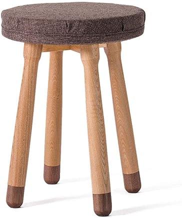 ZDD Massivholz Round Hocker Home High Hocker Wohnzimmer Small High Hocker Adult Bench B07JR8YYSY | Zu verkaufen