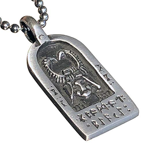 Viking Rune Runic Jewelry Asgard horned god Cernunnos Celtic God of forest Loki Norse Protection Amulet pewter men's women's pendant necklace Charm for men women unisex boys girls w Silver Ball Chain