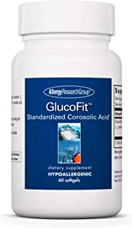 Allergy Research Group - GlucoFit - Banaba Tree, Corosolic Acid, Blood Sugar Support - 60 Softgels
