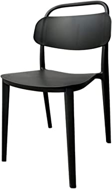 Stackable Portable Dining Chair, One-Piece Plastic, Easy to Move, Leisure Chair, Home Negotiation Chair, Suitable for Bedroom