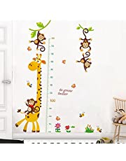 Kids Height Wall Chart | Peel & Stick Nursery Wall Decals for Baby Bedroom, Toddler Playroom