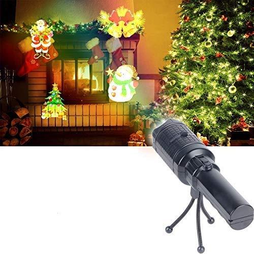 Proiettore Luci Natale, UNIFUN Proiettore Natale con 12 Lenti Intercambiabili Lampada Proiettore Decorazione per Natale, Halloween, San Valentino, Compleanno, Festività
