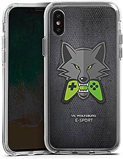 DeinDesign Apple iPhone X Bumper Hülle transparent Bumper Case Schutzhülle VFL Wolfsburg Esport Merchandise Fanartikel