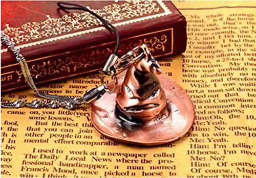 Gespout Magic Hat Keychain Vintage Alloy Keyring Cap Pendant Key Buckle Ornaments Accessories for Key, Car Key