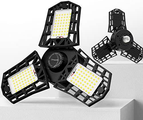 Freelicht 2 Pack LED Garage Light 60W LED Shop Light with E26 E27 Medium Base 6000LM Triple product image