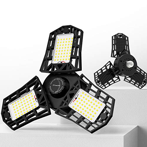2-Pack Freelicht 60W 6500K LED Garage Lights w/ 3 Adjustable Panels $20.50 + Free Shipping