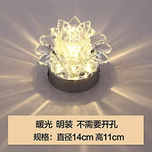 Spotbalken plafondspot wandspots spotlampen LED Top Sky kristal gang lamp volledig inbedde kroonluchter lantaarns in de gang lichten veranda lichten lichten