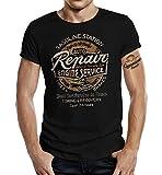 Gasoline Bandit® Camiseta de motorista con diseño de coche Repair Station Negro L