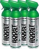 Oxígeno puro en lata – Natural, 36L de oxígeno puro al 95% en 4 latas portátiles de 9L, que proporcionan más de 600 inhalaciones. Aumenta la resistencia, recuperación, agudeza mental y rendimiento