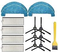 掃除機部品メインブラシHepaフィルターとサイドブラシストレーナー部品はiLifeA7 A9S / DEXP LF800ロボット掃除機床掃除掃除機に適合(色:8フィルター) 絶妙な (Color : Set 6)