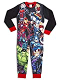 Pijama de una pieza para niños de Marvel con personajes de Hulk y los Vengadores, todo en uno, regalo para niños Negro Impresión de los Vengadores 9-10 Años