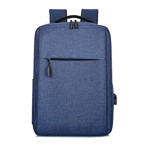 GO-AHEAD Mochila unisex para portátil con puerto USB, mochila antirrobo, mochila de viaje, ocio, colegio, escuela (color: azul)