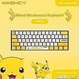 Yellow Pika Wired Mechanical Keyboard - K1061-Pikachu-B - Blue Switch