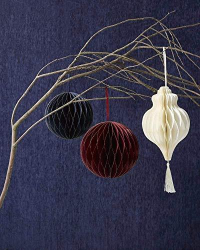 Pratende Tafels Kerstmis Party Papier Honingraat Decoraties Bal 15cm Rode Wijn Goud Glitter