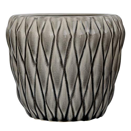 Bloomingville Blumentopf, grau, Keramik