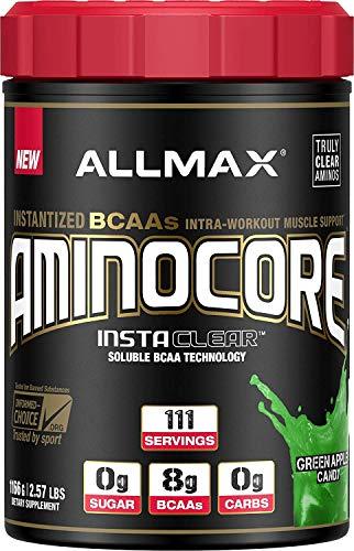 ALLMAX Nutrition Aminocore BCAAs, 100% Pure 45:30:25 Ratio, Green Apple Candy, 1166g