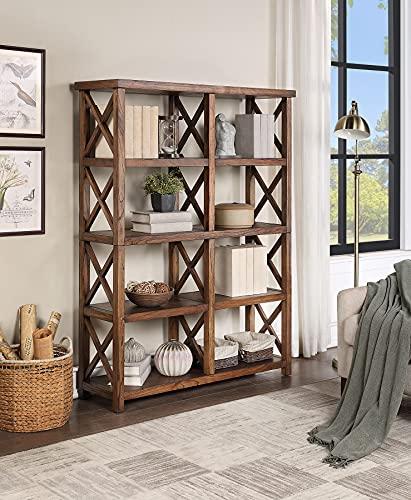 Martin Furniture Eight Shelf Tall Bookcase, Shelves, Chestnut Brown