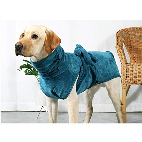 2020 nuevo mascota perro albornoz grueso super absorbente toalla pequeña/grande perro ducha secado albornoz ajustable toalla usable 7 tamaños