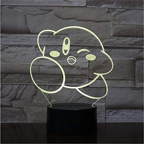 Acryl LED 3D Lamp Meerdere Kleuren Verander Afstandsbediening Schakelaar USB Cartoon Wolken 3D Nachtlampje voor Baby Slapen Verlichting Afstandsbediening Telefoon Bluetooth Controle Kleur