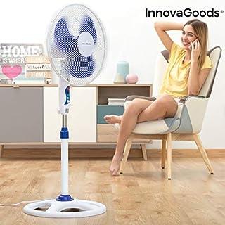 InnovaGoods IG814250 Ventilador de Pie Ø 40 cm 50W Blanco Azul