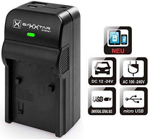 Baxxtar Razer 600 II Ladegerät 5in1 - kompatibel für Akku Panasonic DMW BLG10 E - zu Lumix DC GX9 LX100 II TZ202 TZ96 TZ91 DMC TZ101 TZ81 GF6 GX7 GX80 - USB-Ausgang für Drittgeräte (Smartphone.)