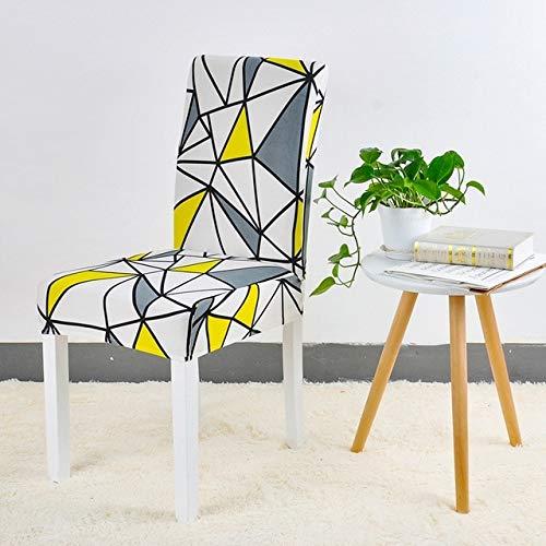 PCSACDF Keuken Stoel Hoes Stoel Bloem Afdrukken Verwijderbare Stoel Hoes Stoel Spandex Meubelhoezen 4/6/8 St 6 pcs chair covers Color 24.
