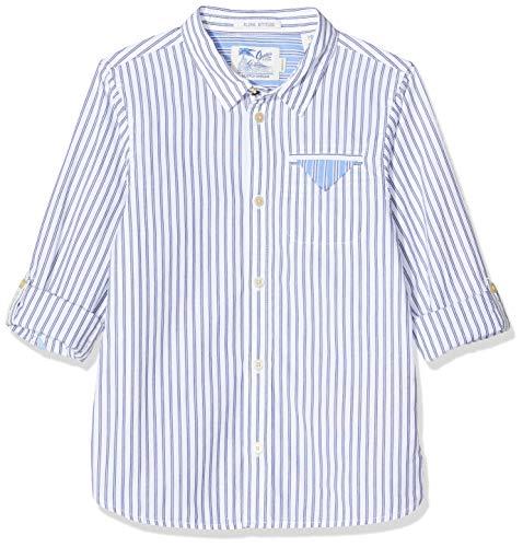 Scotch & Soda Shrunk Jungen Regular Fit Gestreiftes Hemd, Mehrfarbig (Combo A 0217), 164 (Herstellergröße: 14)