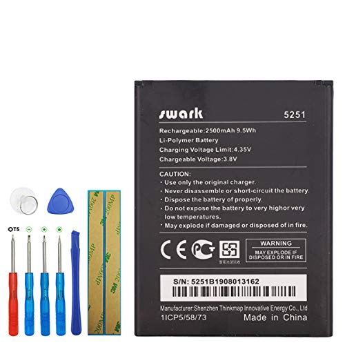 Swark Replacement Akku WIKO 5251 Für Wiko Pulp 3G Pulp 4G Rainbow Jam 4G Robby with Tools