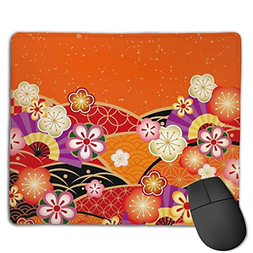 Japanese Kimono 3 Mouse Pad ,HD Bright Colors Gaming Mouse Pad Custom Design Mat