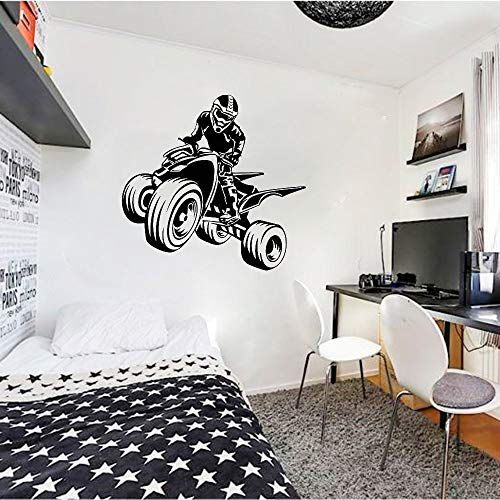 Tianpengyuanshuai Quad Bike Wall Decal Vinyl muursticker kinderen jongens slaapkamer speelkamer cool wanddecoratie
