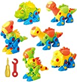 ToyVelt Dinosaur Take Apart Stem Toys for Boys & Girls Age 3 - 12 years old - (218 pieces) Pack of 6...