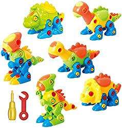 1. ToyVelt Dinosaur Take Apart Stem Toy Set