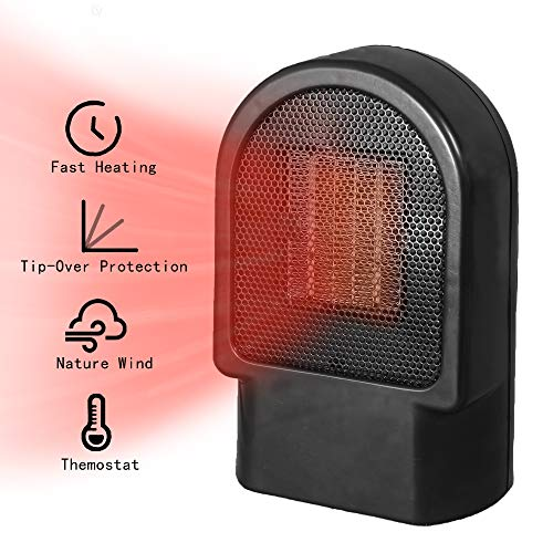 Portable Space Heater, New heater, small mini heater, winter heating stove,Personal Ceramic Oscillation Heater Fan with Tip-Over & Overheat Protection for Home Office