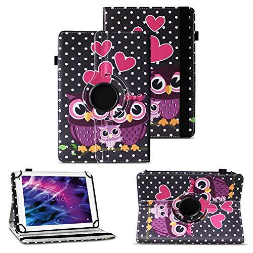 Tablet Schutzhülle für Medion Lifetab P10610 P10603 P10606 P10602 X10605 X10607 X10311 P9702 X10302 P10400 P10356 P10325 P10326 P10506 P10505 Hülle Tasche Standfunktion 360° Drehbar Cover Case, Farben:Motiv 4