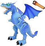 RCTOY RC Dinosaurier Intelligente elektrische Fernbedienung Spielzeug-Dinosaurier-Tiermodell Roboter-Kinder-Spielzeug,Blau -
