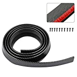 FEIPARTS Front Bumper Lip Chin Spoiler Wing Body Kits PVC Compatible for Most Cars