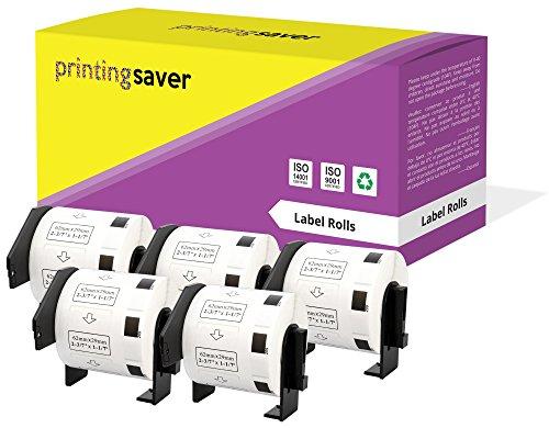 5 Rollen DK11209 DK-11209 29mm x 62mm Adress-Etiketten kompatibel für Brother P-Touch QL-500 QL-550 QL-570 QL-700 QL-800 QL-810W QL-820NWB QL-1050 QL-1060N QL-1100 QL-1110NWB (800 Etiketten pro Rolle)