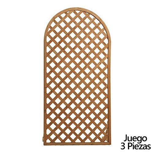 PAPILLON 8043005 Juego de Paneles Celosia Arco Madera 180x90 cm (3 Piezas)