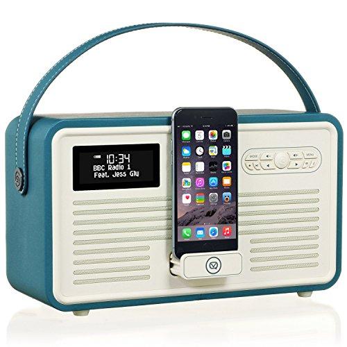 VQ Retro MK II - Radio Digital Dab & Dab+, Color Azul (Bleu Sarcelle)