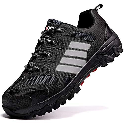 [アッション] 安全靴 メンズ 衝撃吸収 作業靴 レディース ローカット 耐油 防水 ワーキングシューズ 通気性 安全スニーカー 鋼製先芯 ワークマン 靴 快適性 耐久性 耐油性 安全作業靴 3E 大きいサイズ 25cm ブラック