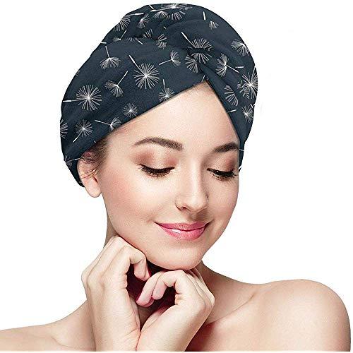 mahada Quick Dry Haar Wrap Handdoeken Turban, Abstract Bloemenachtergrond Bloeiende Natuur Romantische Botanische Regeling