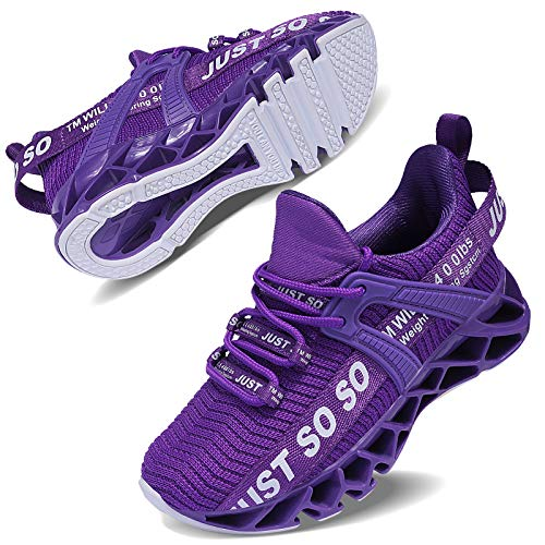 Vivay Kinder Schuhe Sportschuhe Ultraleicht Atmungsaktiv Turnschuhe Low-Top Sneakers Laufen Schuhe Laufschuhe für Mädchen Jungen,2Lila,33 EU