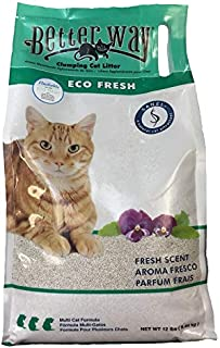 Better Way Eco Fresh Clumping Cat Litter (formerly Better Way Flushable Cat Litter), 12lb bag
