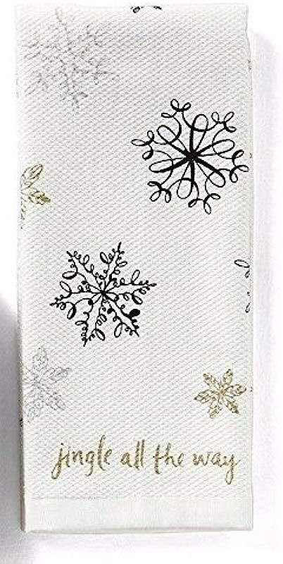 Kate Spade Kitchen Towel Set Snowflakes