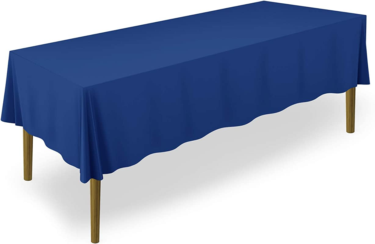 Lann S Linens 60 X 126 Premium Tablecloth For Wedding Banquet Restaurant Rectangular Polyester Fabric Table Cloth Royal Blue