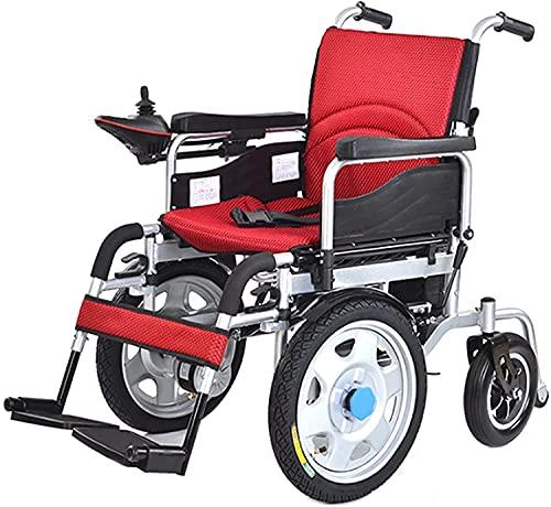 Silla de ruedas eléctrica DUAL-MOTOR UNIVERSAL SMART ROCKER LOSTRAL LINTALLA DE DUROS PROPIEDADES DE PROPÓSITO DUALQUIERDO PARA ADULTOS Y ABAJOS,Rojo