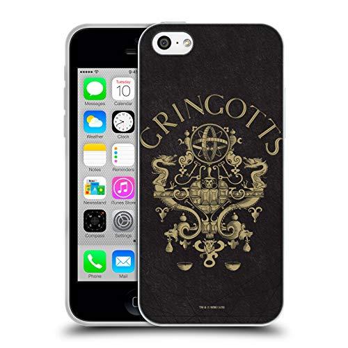 Head Case Designs Oficial Harry Potter Gringotts Crest Sorcerer's Stone I Carcasa de Gel de Silicona Compatible con Apple iPhone 5c